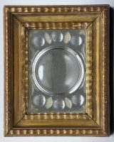 Antique Italian Cut-Glass Mirror in Gilded Frame