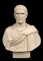 Antique Grand Tour Plaster Bust of Brutus, Circa 1830
