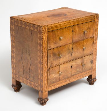 Fine Italian Miniature Walnut Commode