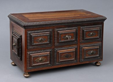 Antique Miniature Portuguese Chest, Circa 1780
