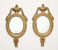 Pair Italian Giltwood Mirrors, Circa 1810-Main Front View