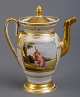 Paris Porcelain Coffee Pot, Circa 1810