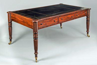 Large Regency Partners Mahogany Writing Table