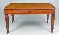 Late Regency Partners Writing Table-Main Front View