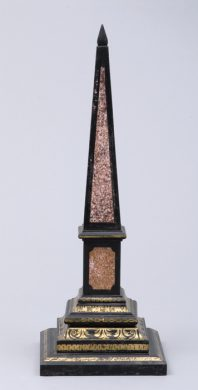 Antique Slate Obelisk, Circa 1840