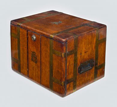 Victorian Oak Cigar Box