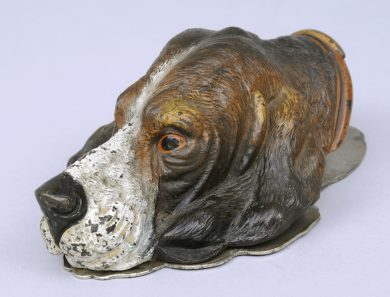 Vienna Cold Paint Bronze Dog Head Letter Clip