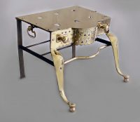Brass and Iron English Footman Trivet