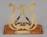 Brass and Oak Letter Rack