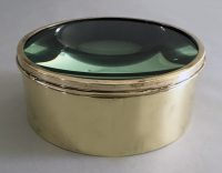Antique Brass Magic Lantern Lens