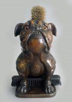 Antique Bulldog Brush Holder