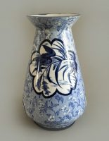 Burleigh Ware Blue and White Vase