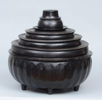 Hsun Kwet - Burmese Black Lacquer Offering Bowl