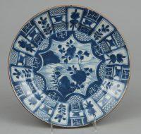 Chinese Kang Xsi Kraak Plate, Circa 1700
