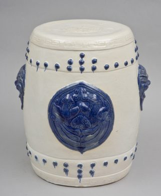 Chinese Blue & White Garden Seat