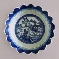 Antique Chinese Canton Blue and White Bowl