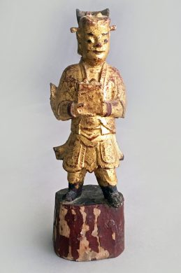 Chinese Carved Wooden Votive Figure