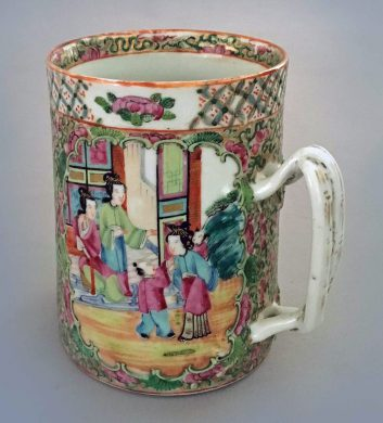 Chinese Export Famille Rose Mug, Circa 1850