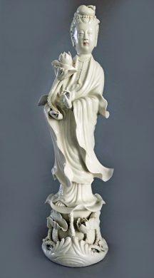 Chinese Porcelain Standing Quan Yin