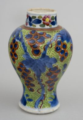 Small Chinese Qianlong Period Clobbered Vase, Circa 1770