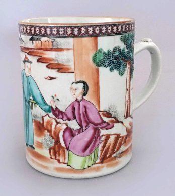 Chinese Qianlong 18th Century Famille Rose Mug