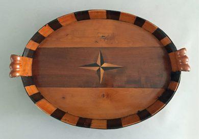 Dutch Oval Tray, Circa 1820-40