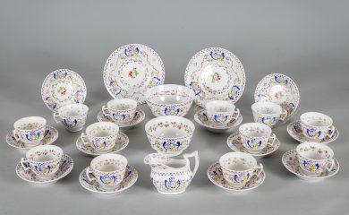 Early Staffordshire Lusterware Tea Service