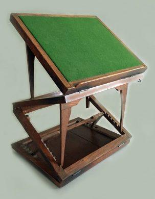 Antique Large Elm Adjustable Bookstand