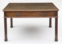 English Antique George II Partners Writing Table, Circa 1765-Main Front View