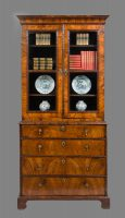 Antique George I Walnut Secretaire Bookcase-Main Front View