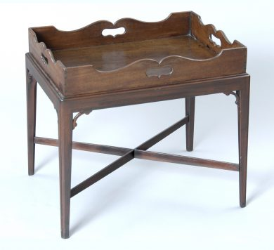 English Antique Georgian Tray on Stand