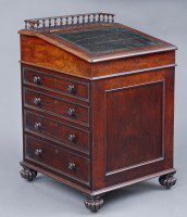 English Antique Late Regency Period Davenport Desk-Main Angled View