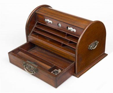 Oak Stationery Box, Circa 1900