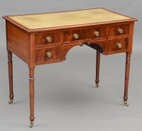 English Antique Regency Mahogany Ladies Writing Desk-Main Angled View