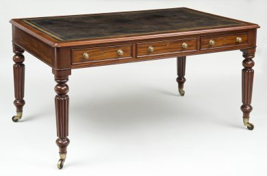 Regency Partners Writing Table, Circa 1820