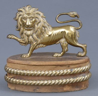 Victorian Gilded Lion Ornament, Circa 1880
