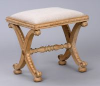 English Antique William IV Sycamore Stool-Main Angled View