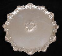 George II Sterling Silver Salver, 1754