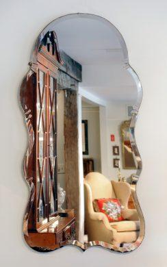 English Mid-Century Queen Anne Style Mirror
