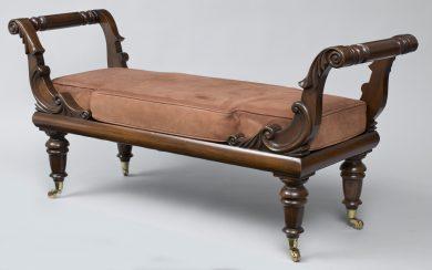 English William IV Style Bench