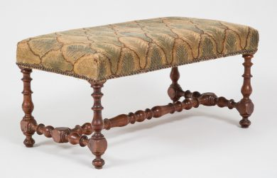 Early Flemish Walnut Bench