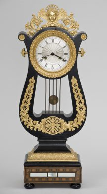 French 8-Day Gilded Mantel Clock, Circa 1870