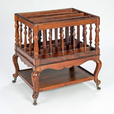 French Rosewood Canterbury Magazine Rack