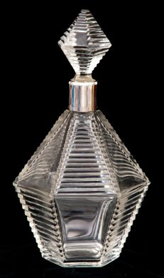 French Cut-Glass Decanter, Circa 1920