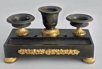 French Empire Gilded Bronze Inkstand