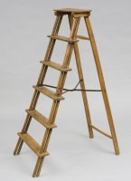 French Fruitwood Step Ladder-Main View Angled