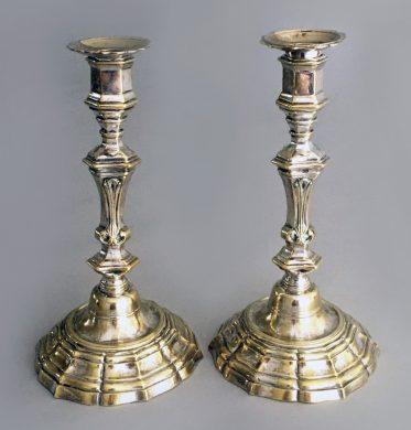 18th Century Louis XIV Candlesticks, a Pair