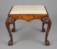 George IV Double C-Frame Mahogany Stool-Main Front View
