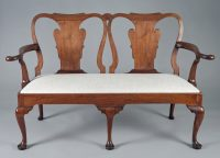 George I Walnut Double Chair Back Settee