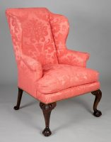 George II Period Walnut Wing Chair